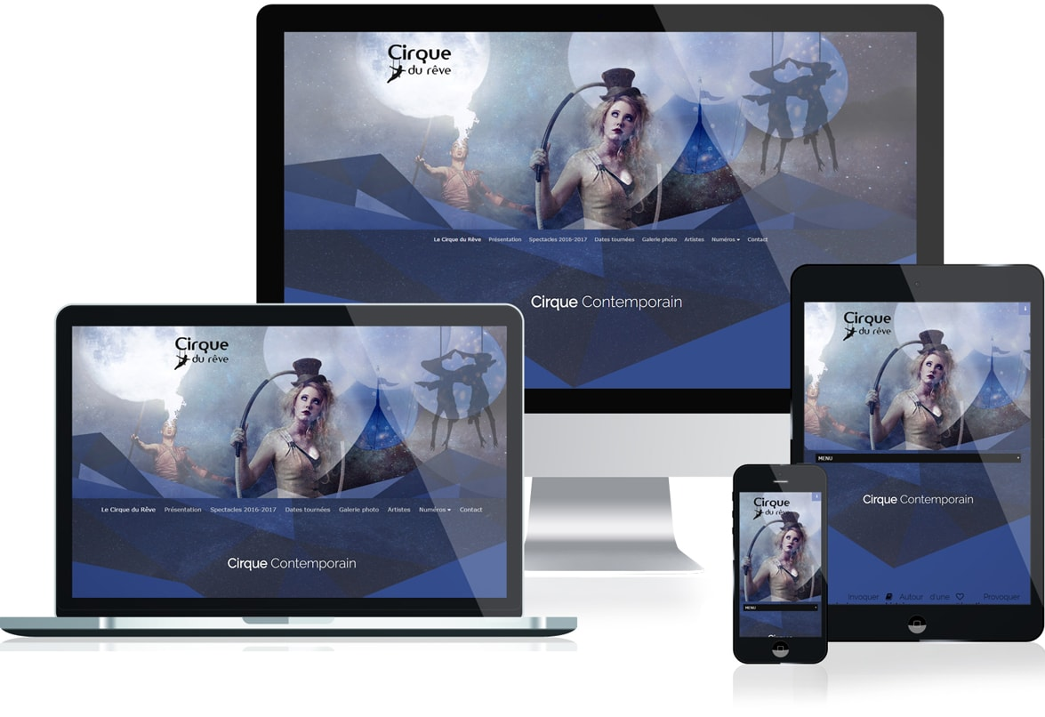 site web responsive cirque contemporain