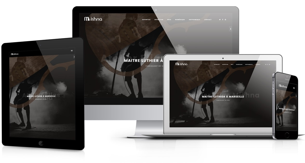 site web responsive luthier
