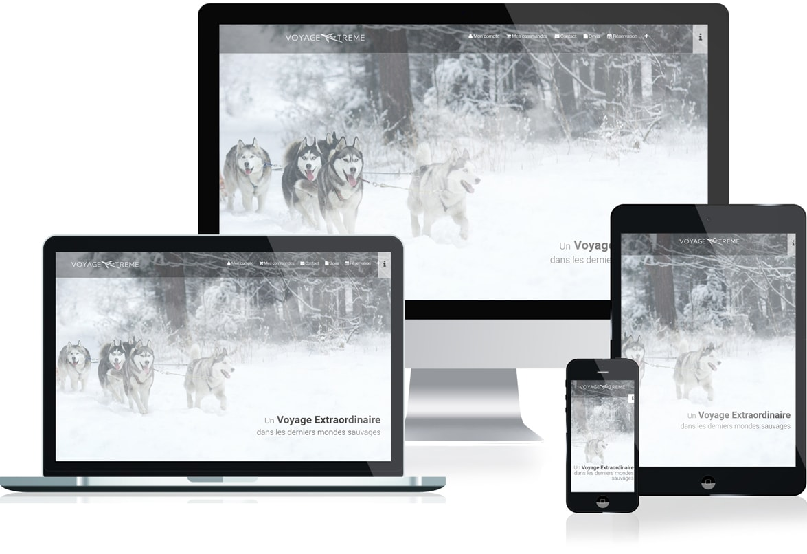 site web responsive agence voyage extreme
